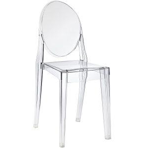 Białe krzesło Duch projekt Victoria Ghost